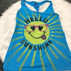 OP Hello Sunshine Graphic Tank Top Juniors Large